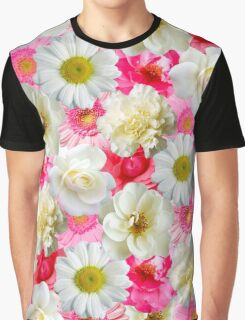 Pink & white flowers Graphic T-Shirt