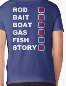 The Fishing List Mens V-Neck T-Shirt