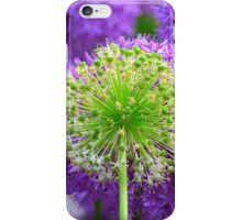Purple and Green Flowers iPhone Case/Skin