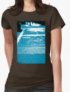 Abstract Pavement Womens Fitted T-Shirt