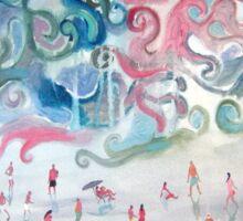 La playa 2 por Diego Manuel Sticker
