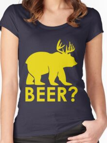 BEER? BEAR? Women's Fitted Scoop T-Shirt
