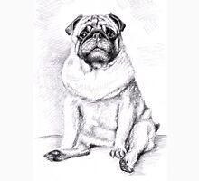 Pug Anton - Graphite Portrait Unisex T-Shirt