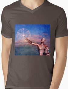 FATHER TO SON ~ THE WONDERS OF LIFE Mens V-Neck T-Shirt