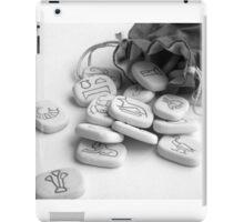 black and white runes runestones iPad Case/Skin