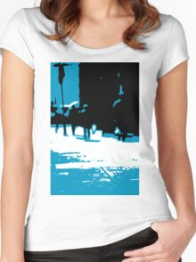 Abstract Crowds Women's Fitted Scoop T-Shirt