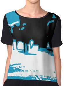 Abstract Crowds Chiffon Top