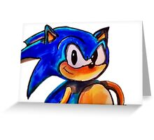 SONIC THE HEDGEHOG!! Greeting Card