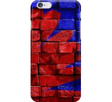 Red and Blue Brickwork Art iPhone Case/Skin