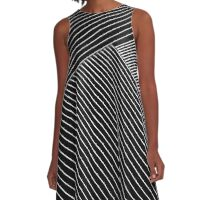 Line Art - Geometric Illusion, abstraction A-Line Dress