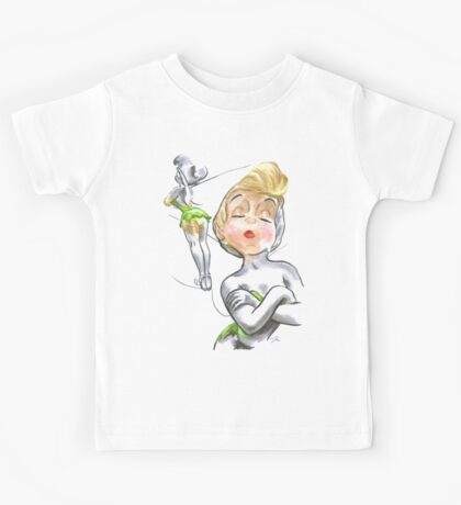 Charcoal and Oil - Tinker Bell Kids Tee