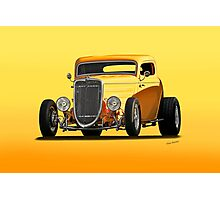 1934 Ford 'Mango Madness' Coupe II Photographic Print