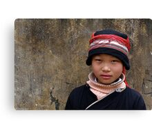 Red Dao girl... Canvas Print