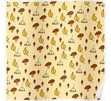 Autumn pattern 2 Poster