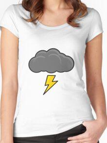Cartoon Thundercloud!! Women's Fitted Scoop T-Shirt