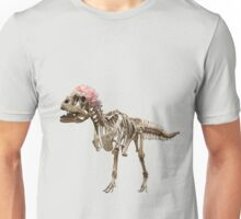 dinosaur and flowers Unisex T-Shirt