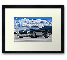 1958 Corvette 'Resto' Roadster Framed Print