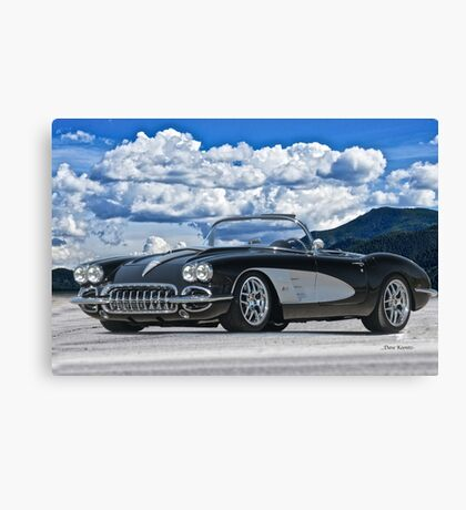 1958 Corvette 'Resto' Roadster Canvas Print