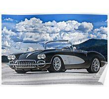 1958 Corvette 'Resto' Roadster Poster