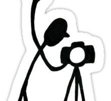 "Photographer ""STOP! - And I'll Shoot"" Cartoon Sticker"