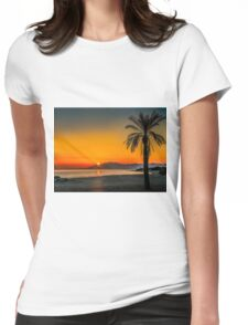Sunset over Estepona, Andalusia, Spain Womens Fitted T-Shirt