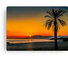 Sunset over Estepona, Andalusia, Spain Canvas Print