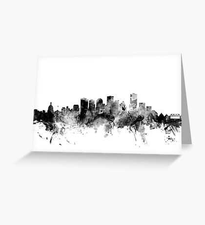 Edmonton Canada Skyline Greeting Card