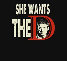 She Wants The D - She Wants The Dean  Womens Fitted T-Shirt