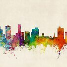 Port Elizabeth South Africa Skyline by Michael Tompsett