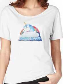 Central Intelligence - Unicorn (Faded as worn in the film) Bob Stone Women's Relaxed Fit T-Shirt