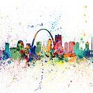 St Louis Missouri Skyline by Michael Tompsett