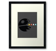 DEATH STAR PACMAN Framed Print