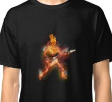 Fire Skeleton Guitarist Classic T-Shirt