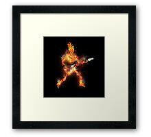Fire Skeleton Guitarist Framed Print