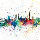 Newcastle England Skyline by Michael Tompsett
