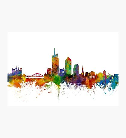 Lyon France Skyline Photographic Print