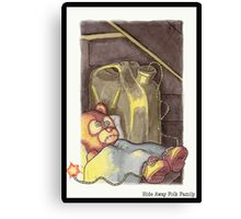 Hide Away Folk Family Canvas Print