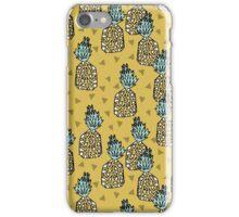 Pineapple - Yellow by Andrea Lauren iPhone Case/Skin