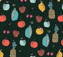 Tutti Fruit Pattern by Andrea Lauren by Andrea Lauren