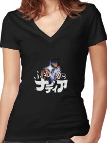 Nadia and the secret of blue water Women's Fitted V-Neck T-Shirt
