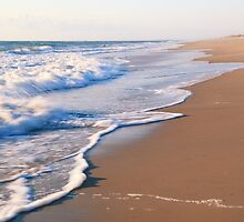 Surf on the beach, the Outer Banks by Roupen  Baker