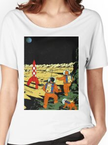 Explorers on the Moon Women's Relaxed Fit T-Shirt
