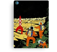 Explorers on the Moon Canvas Print