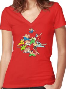 Kung Fu Jungle - Vol. 2 Women's Fitted V-Neck T-Shirt