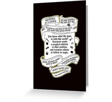 OUAT quotes. Once Upon A Time. V4. Greeting Card