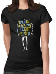 Tight pants - colour and black Womens Fitted T-Shirt