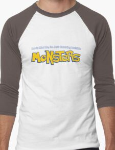 Don't Mind Me, I'm Just Catching Invisible MONSTERS Men's Baseball ¾ T-Shirt