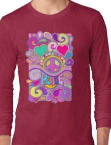 Psychedelic Hippy Retro Peace Art Long Sleeve T-Shirt