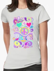 Psychedelic Hippy Retro Peace Art Womens Fitted T-Shirt