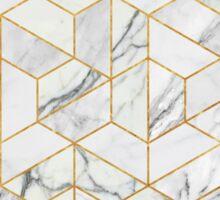 Hexagonal geometric marble Sticker